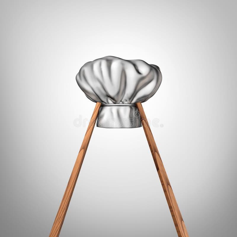 kuchnia azjatykcia ilustracja wektor