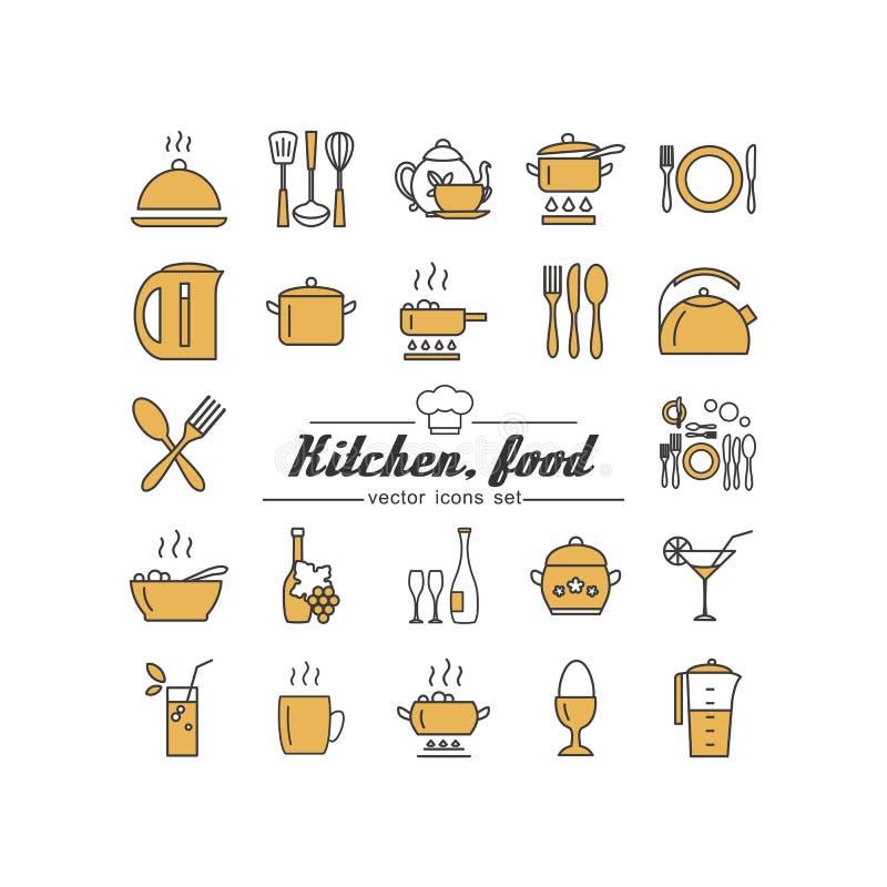 Kuchnia Jedzenie ilustracji