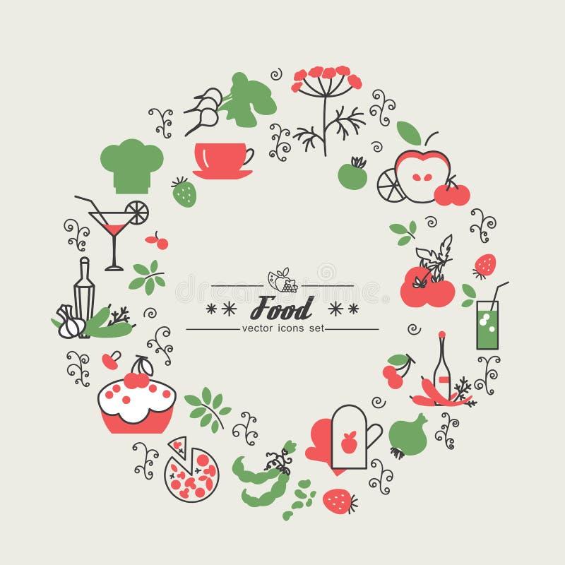 Kuchnia Jedzenie royalty ilustracja