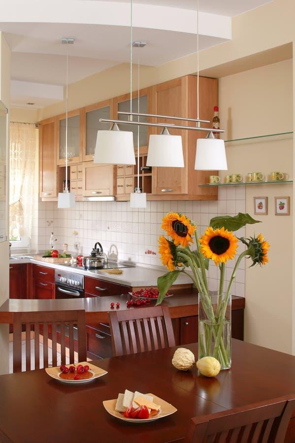 kuchnia jest słonecznik obraz stock