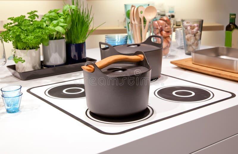 kuchnia kulinarny talerz obrazy stock
