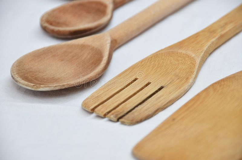 kuchnia narz?dzia drewniany zdjęcie royalty free