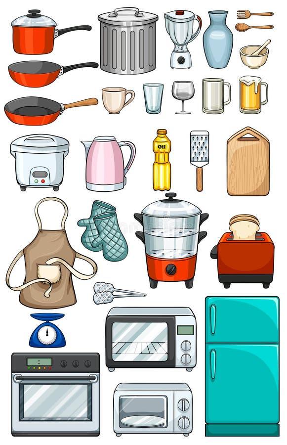 Kuchnia przedmioty ilustracja wektor ilustracja z o onej z ry 53326757 - Objetos de cocina ...