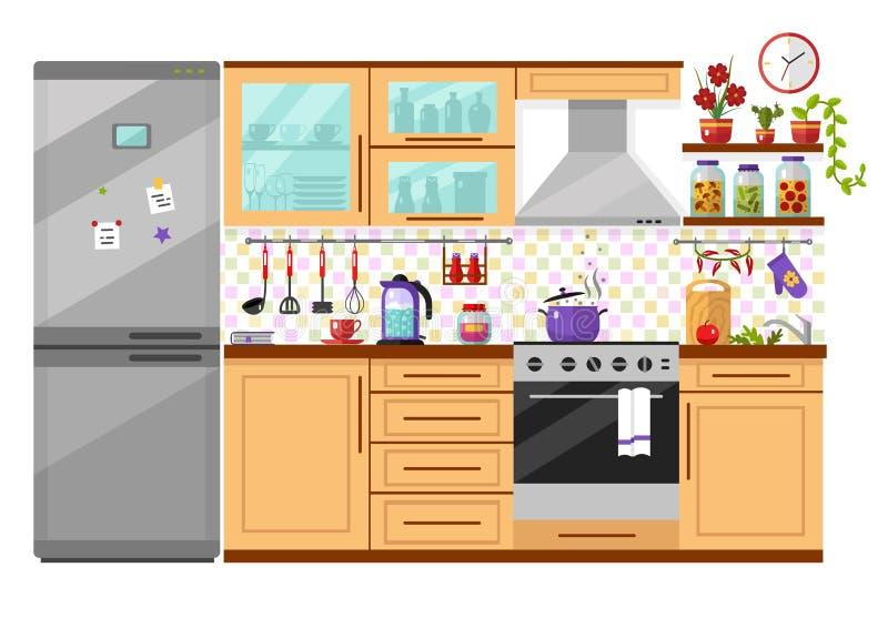 kuchnia w domu ilustracji