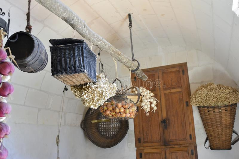 Kuchnia w kasztelu Chenonceau zdjęcia stock