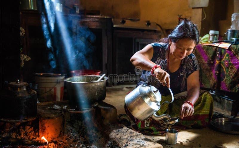 Kuchnia w Nepal fotografia stock