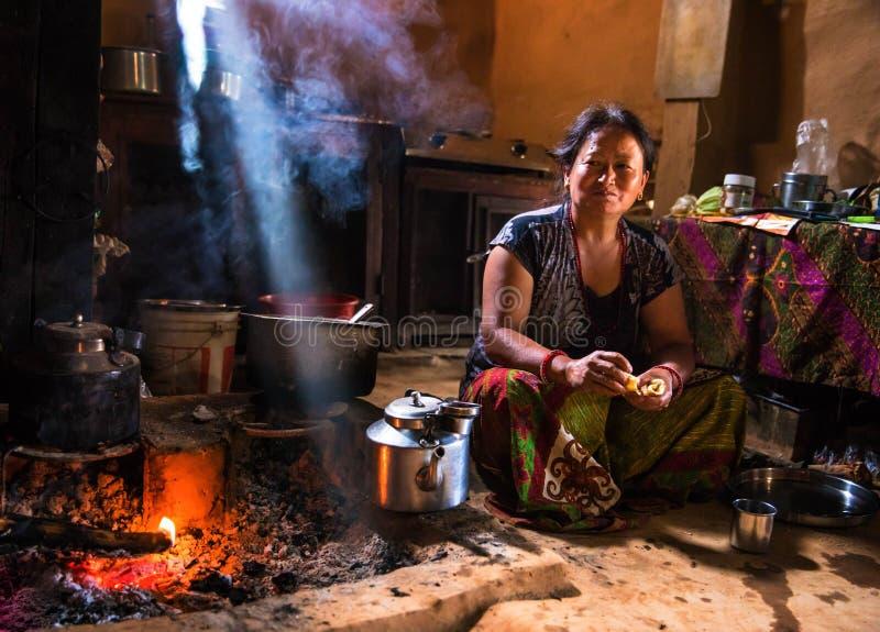 Kuchnia w Nepal fotografia royalty free