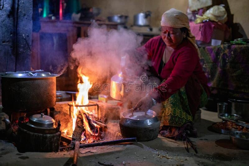 Kuchnia w Nepalu obrazy royalty free