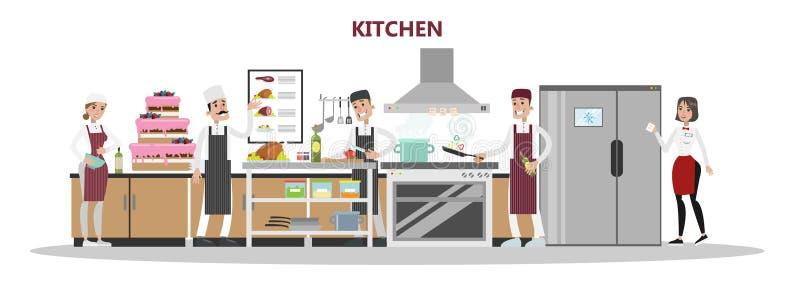 Kuchnia w restauraci royalty ilustracja