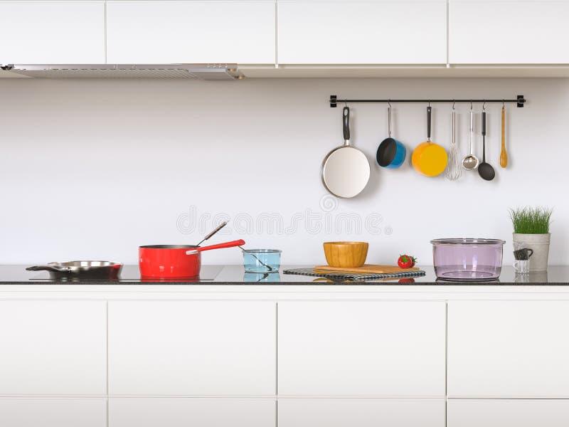 kuchnia wewnętrzna royalty ilustracja
