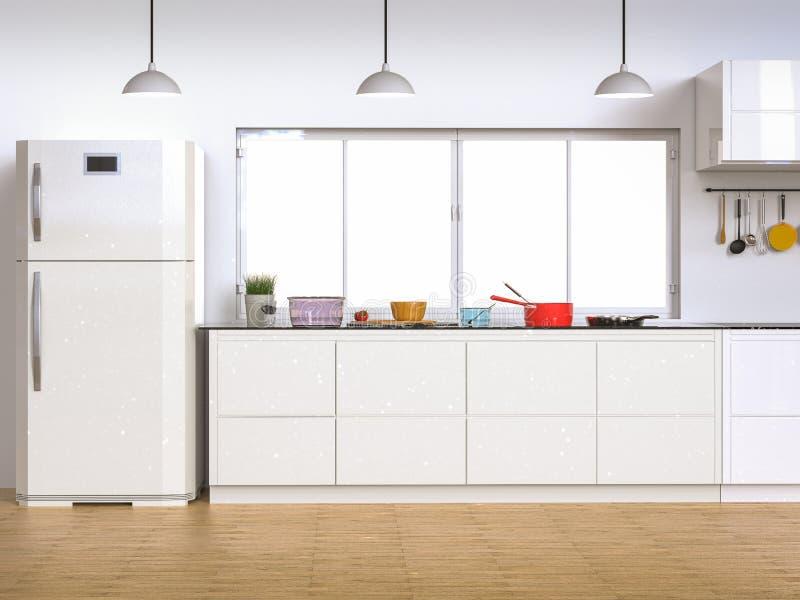kuchnia wewnętrzna ilustracji