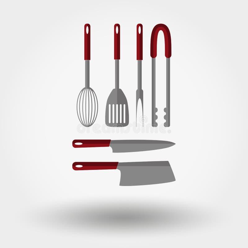 Kuchnia wytłacza wzory ikony ilustracji