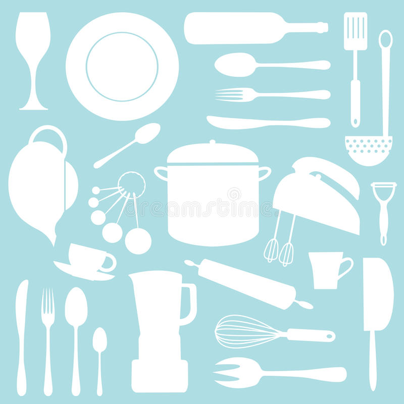 kuchnia wzór royalty ilustracja