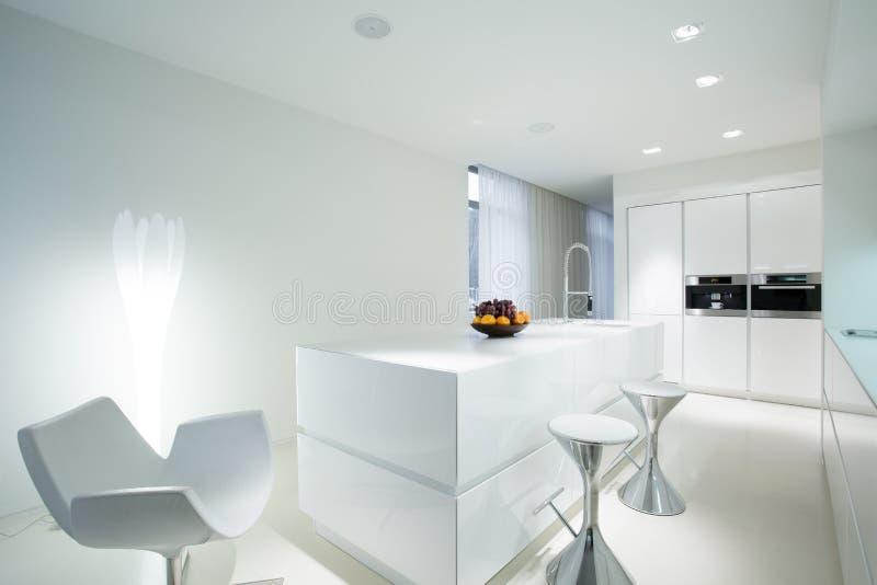 Kuchnia z łomotać przestrzeń fotografia royalty free