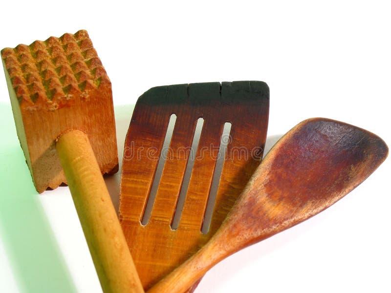 Download Kuchnia Zamknięta Narzędzia Do Drewnianego Zdjęcie Stock - Obraz złożonej z zakończenie, ciężki: 137548