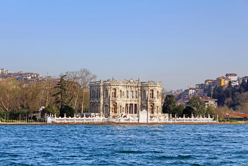 Kucuksu Kasri (Sultans mansion) in Instanbul royalty free stock image