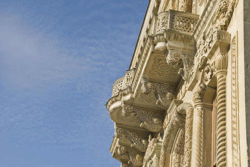 Kucuksu Palast-Detail (Kucuksu Kasri) lizenzfreie stockfotos