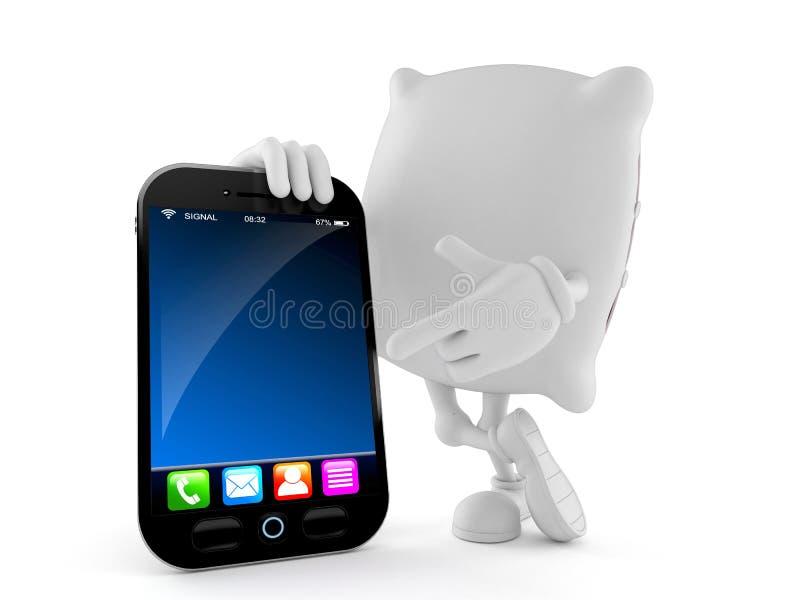 Kuddetecken med den smarta telefonen royaltyfri illustrationer