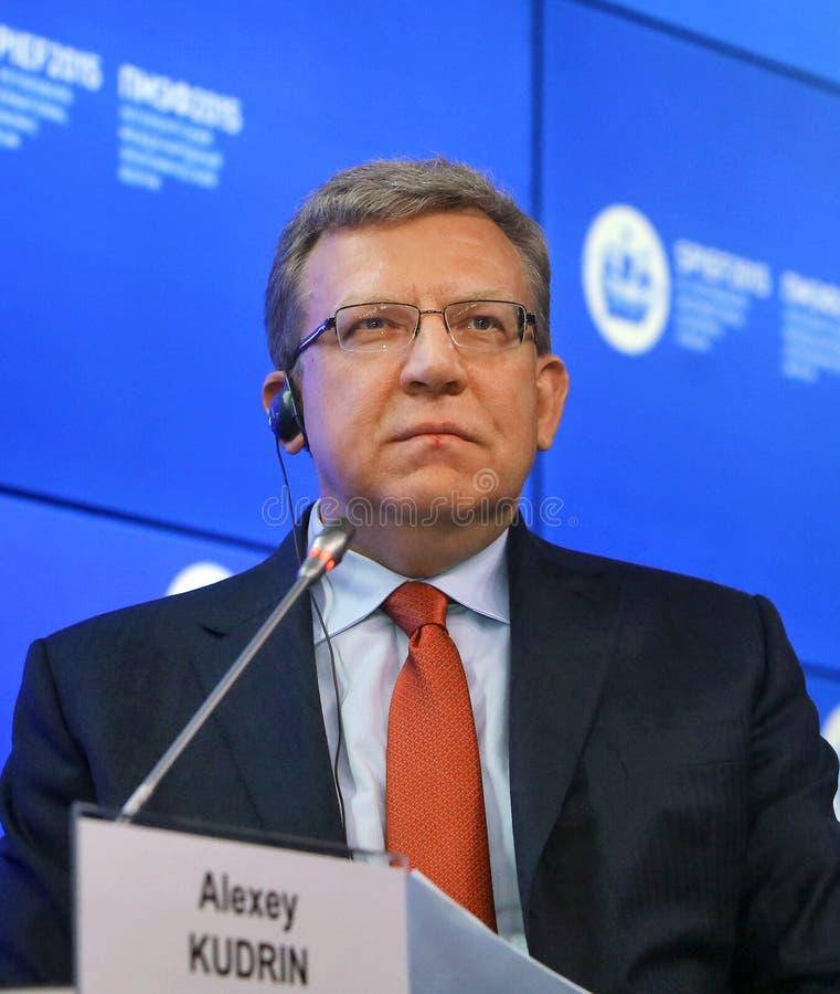 Kudrin Alexey Leonidovich Russian statsman fotografering för bildbyråer