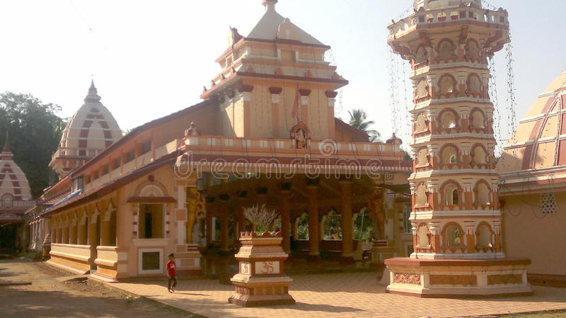 Kudtari Mahamaya temple in Goa. Shree Shantadurga Chamundeshwari Kudtari Mahamaya Temple has been recently reconstructed and other developmental activities are royalty free stock photo