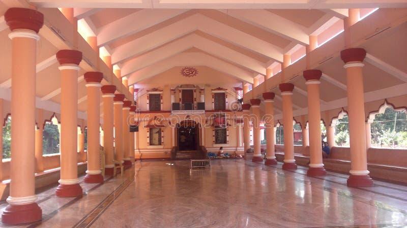 Kudtari Mahamaya Temple in Goa(India). Kudtari Mahamaya temple in Quepem-Goa(India).Image shows the Sabhamantap of this temple royalty free stock photo
