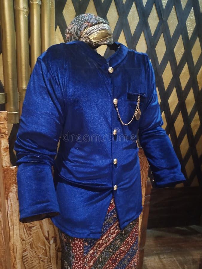 Kudus Traditional Men Clothes, Central Java, Indonesien lizenzfreie stockfotografie