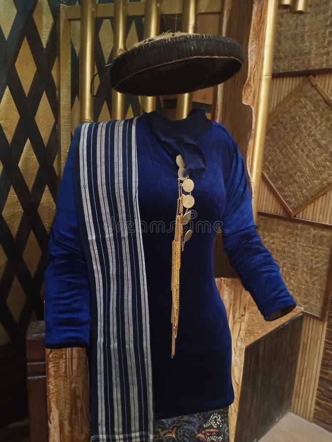 Kudus Tradycyjne Odzież dla Kobiet, Jawa Środkowa, Indonezja fotografia royalty free