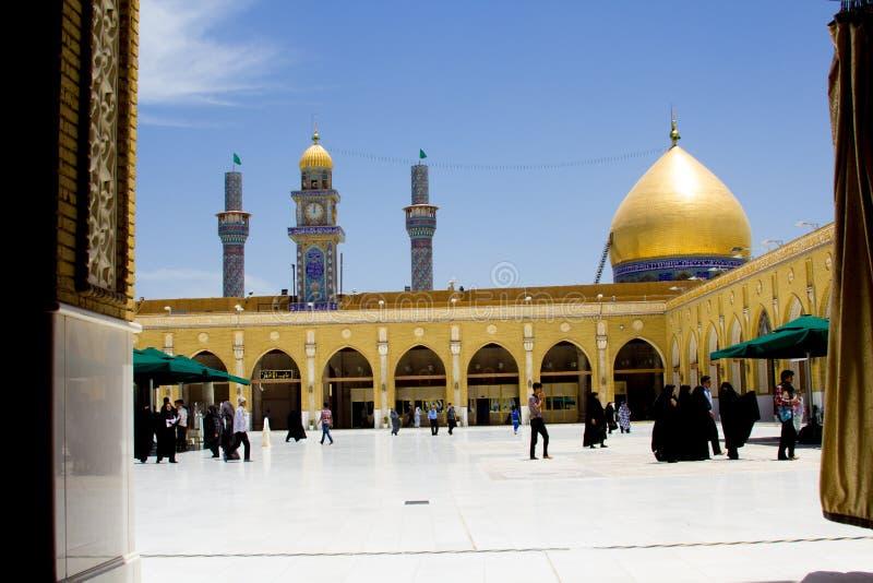 Kufa moské fotografering för bildbyråer