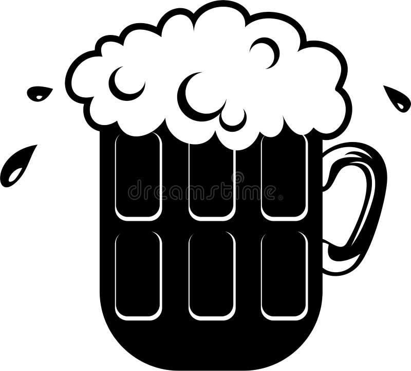 kufel piwa ilustracja wektor