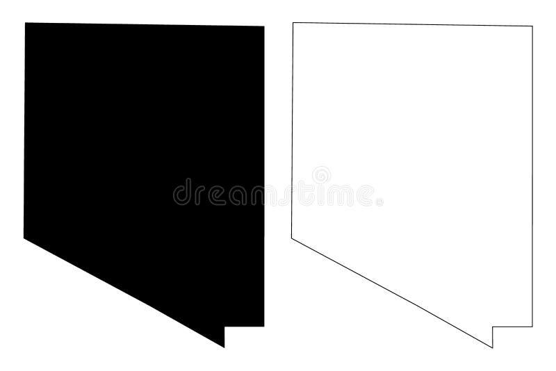 Kufra District Districts of Libya, State of Libya, Cyrenaica map vector illustration, scribble sketch Kofra map.  vector illustration