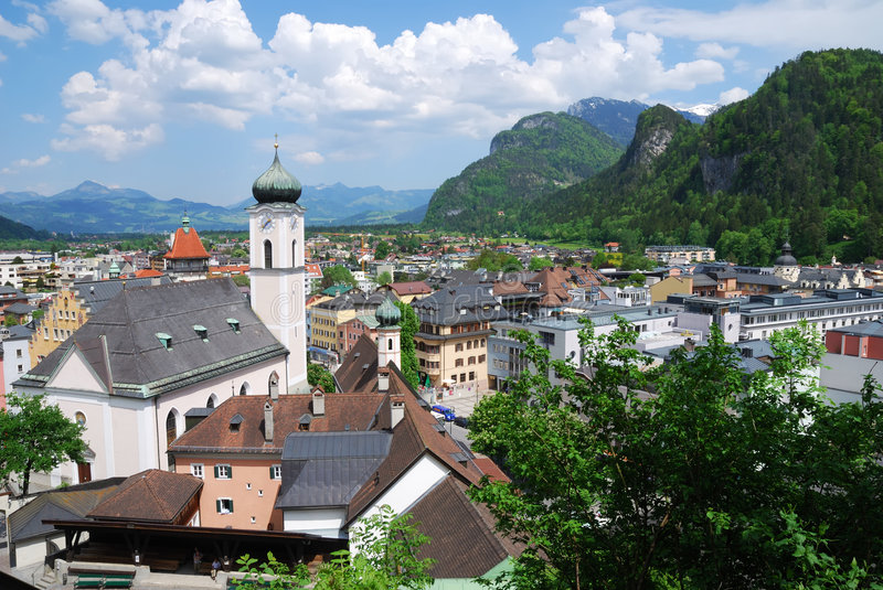 Download Kufstein stock image. Image of cloudscape, buildings, house - 5496595