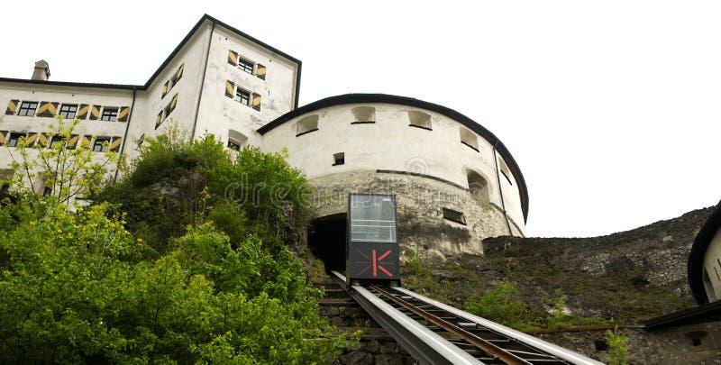 Kufstein - lift aan de kasteelvesting royalty-vrije stock afbeelding