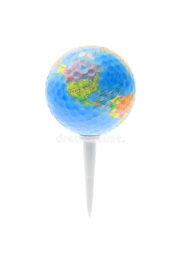 Kugel auf Golft-stück lizenzfreie stockfotos