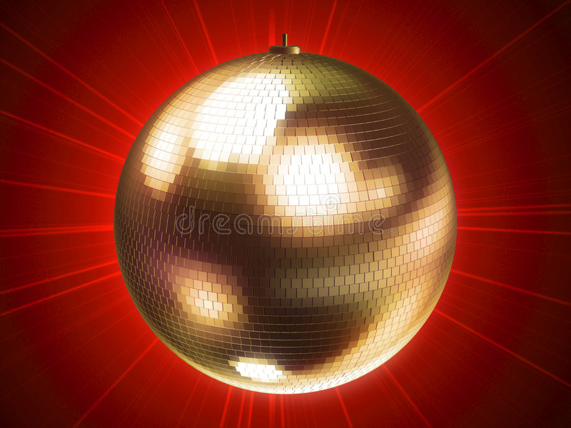 Kugel der Disco 3d lizenzfreie abbildung