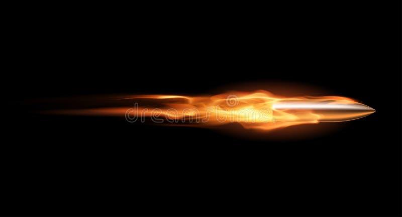 Kugel in der Flamme lizenzfreie abbildung