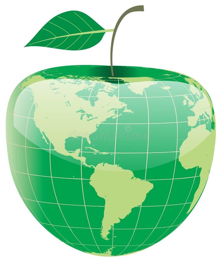 Kugel in der Form des Apfels lizenzfreie abbildung