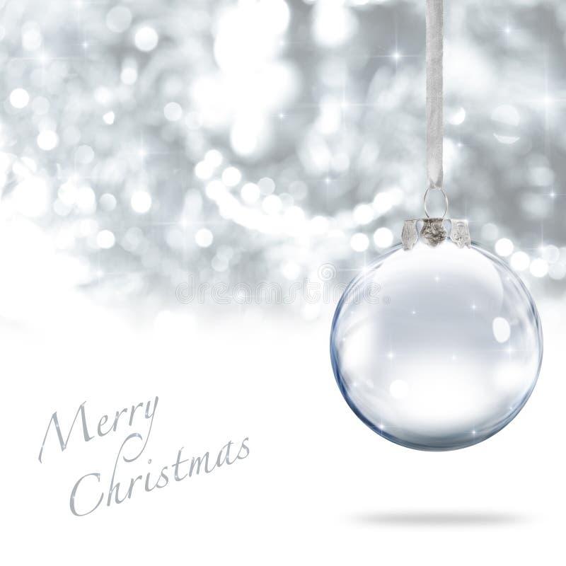 Kugel der frohen Weihnachten stockbild