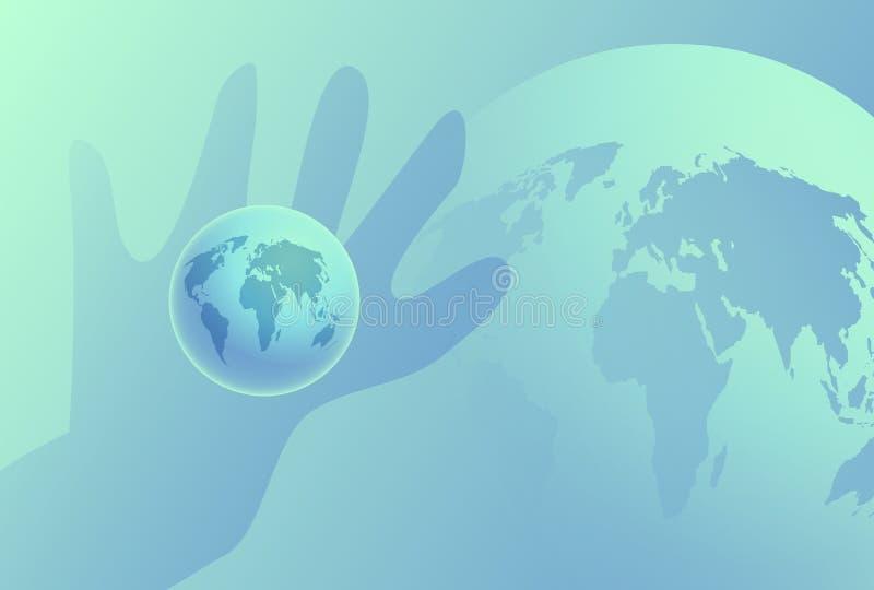Download Kugel in der Hand stock abbildung. Illustration von karten - 44046