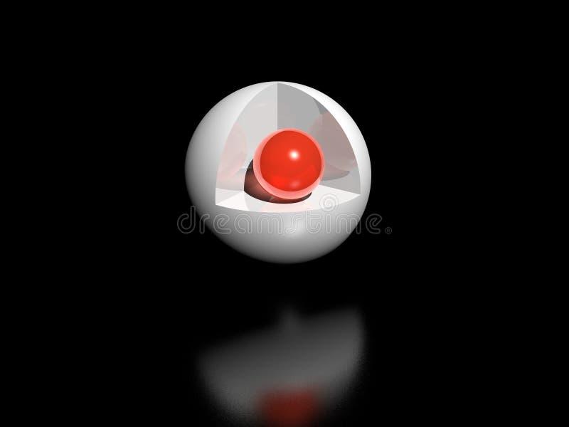 Kugel in der Kugel stock abbildung