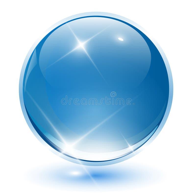 Kugel des Kristalles 3D stock abbildung