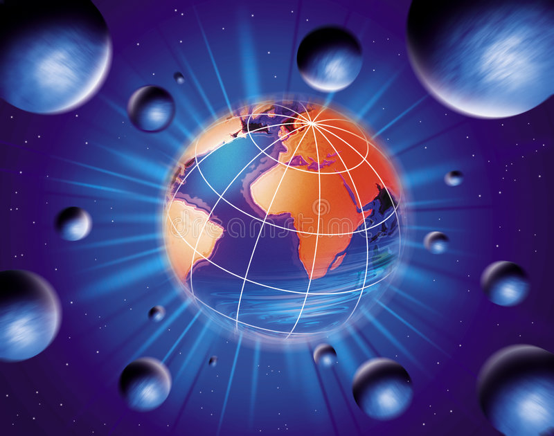 Kugel-Erde stock abbildung