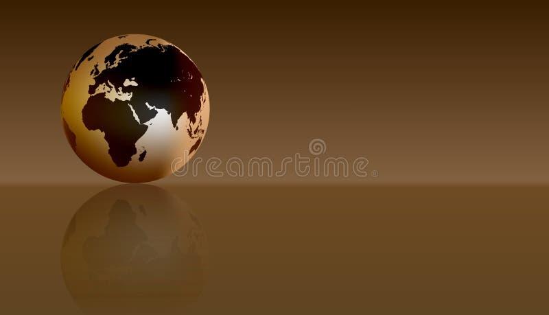 Kugel Europa Afrika Auch im corel abgehobenen Betrag vektor abbildung