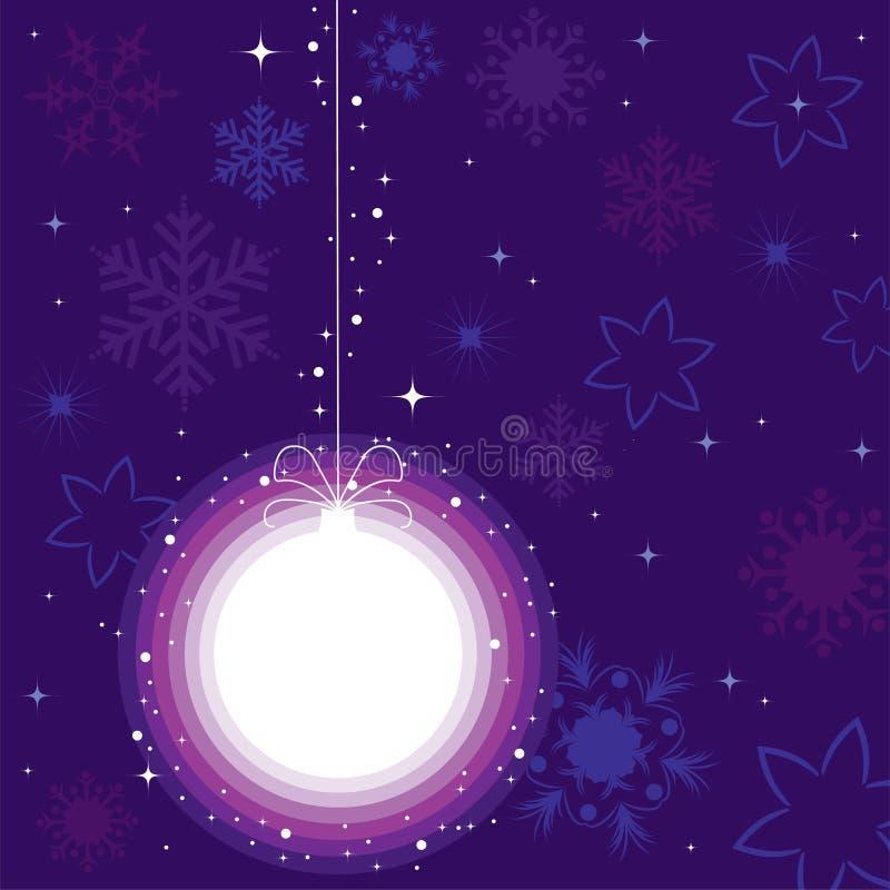 Kugel für Weihnachtsbaum lizenzfreie abbildung
