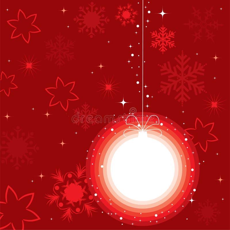 Kugel für Weihnachtsbaum stock abbildung