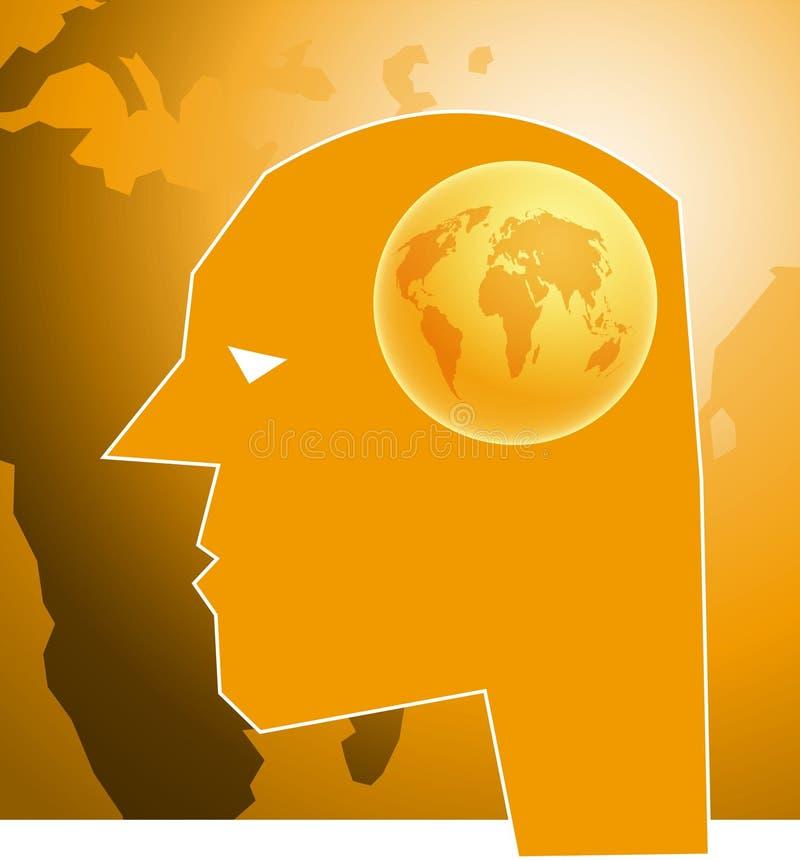 Download Kugel-Gehirn stock abbildung. Bild von konzept, kopf, abbildungen - 42999