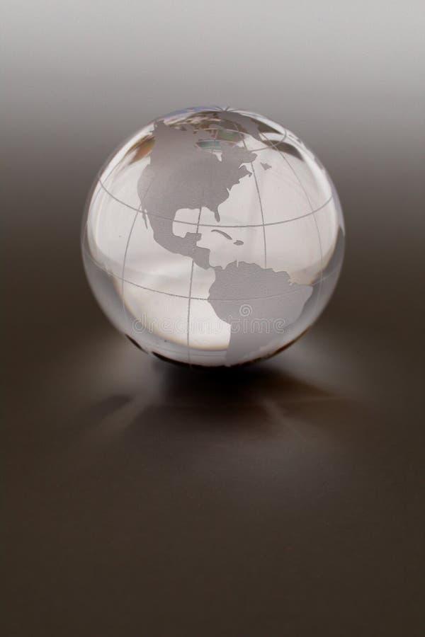Kugel gemacht vom Kristall stockbilder