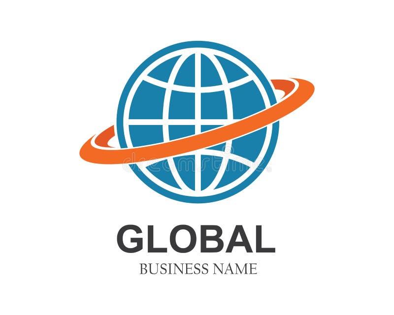 Kugel, globales Geschäft, Netz schloss Logoikone an stock abbildung