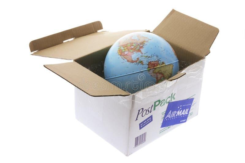 Kugel im Paket lizenzfreies stockbild