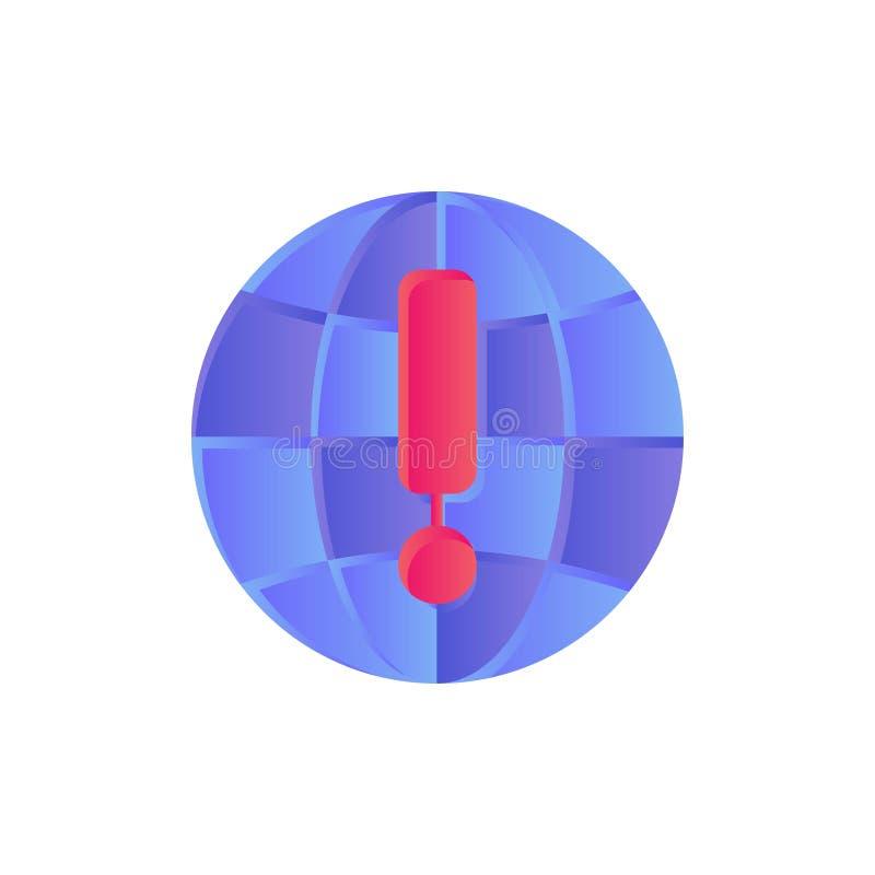 Kugel, Internet, Browser, Weltflache Farbikone Vektorikonen-Fahne Schablone vektor abbildung