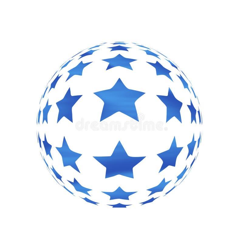 Kugel mit Sternen lizenzfreie abbildung
